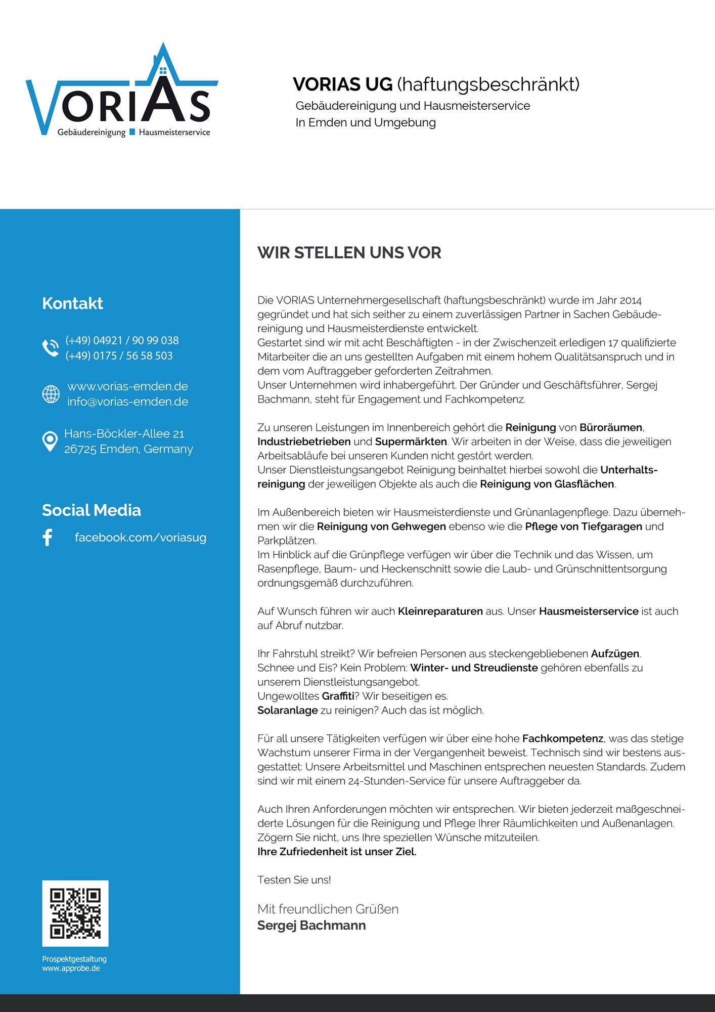 Gebäudereinigung und Hausmeisterdienst in Emden - Vorias GmbH